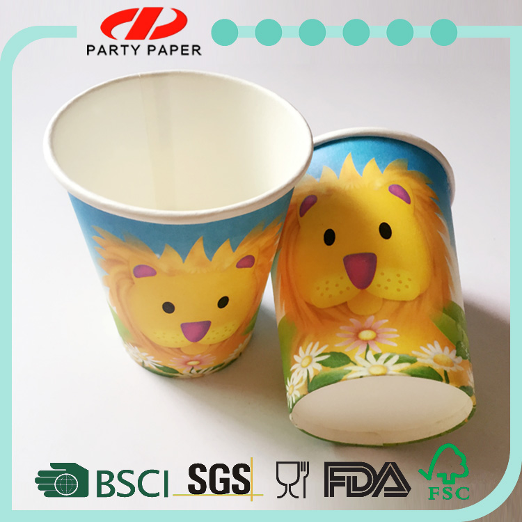 DYPD stable quality promotion foldable pe coated paper cup fan disposable
