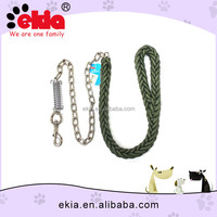 Ekia Wholesale Metal Chain Strong Braided Dog Lead For Large Dogs