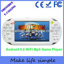 2014 Hot Selling Child Game Consoles With Wifi/Touch Screen/Dual Camera/TV-Out