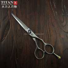 Titan professional hair scissors serrated blade hair scissors barbering beauty salon tools beard ball screw
