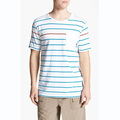 OEM design men striped t shirts outwear cotton printed t shirt