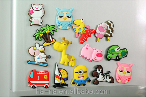 Cute animal PVC fridge magnet creative cartoon stereo magnetic fridge magnet