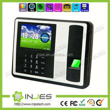 INJES TCP IP interface 1000 fingerprint RFID punch card employee attendance machine time clock system