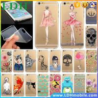 Phone Case Cover For iPhone 5 5S SE Ultra Soft Silicon Transparent Cute Girl Flowers Animals Cartoon Patterns Mobile Phone Bag
