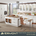 2017 Vermont White Melamine Board Glossy Shaker Door Flat Pack Kitchen Wall Haning Cabinet