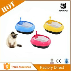 Pet product high quality square plastic cat litter box cat toilet