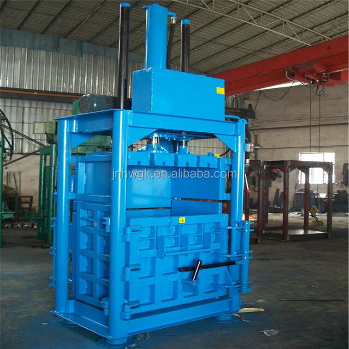 Automatic waste carton baling machine , waste paper compressor