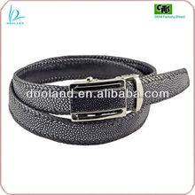 Luxury exotic real stingray skin leather belt