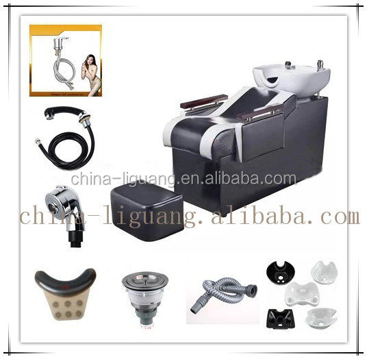 Luxury & comfortable washing salon shampoo chair with massage function