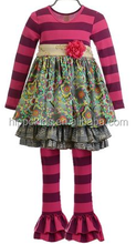 New fashion maddison dress outfit brooch stripe ruffle leggings with tunic dress girls giggle moon remake outfits