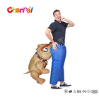 Halloween Christmas Funny Inflatable Dog Bite Costume For Adults And Kids
