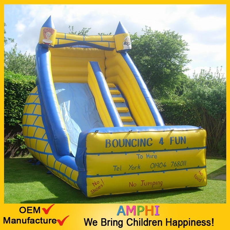 pvc banzai inflatables, water slide and pool, vortex spin slide banzai made in China