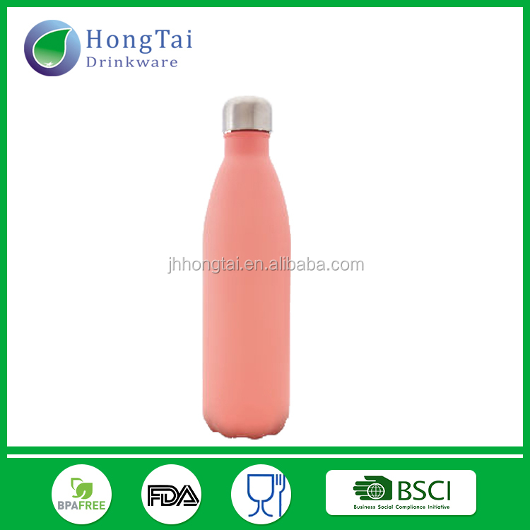 Drinking bottle stainless steel sports hot metal eco vacuum sealed pattern water bottle double wall bpa free drinkware