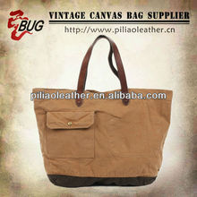 vintage style high quality blank canvas wholesale tote bags