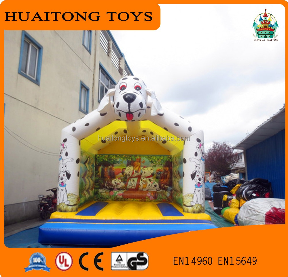 high quality dalmatians modelling inflatable bouncer house for kids