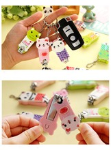 Cartoon Animal Key Chain Plastic Nail Clipper