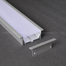 strip wide flat thin LED Aluminum profiles /extrusion Extruded T Type Recessed Aluminum Composite Panel Profile For Led Strips
