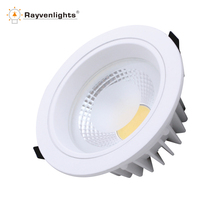 15W 6 inch IP44 Dimmable COB LED Recessed Downlight Housing