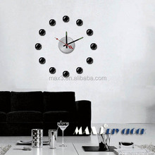 Original brand Elegant black ball Wall Clock Creativity DIY Mute Wall Clock Decorative Home Modern Design dinning room Clock