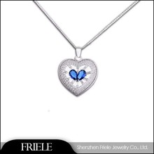 Silver heart pendant, 925 sterling silver jewelry wholesale