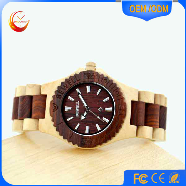 new arrival original design high-end black color pure time watch wooden watch men luxury