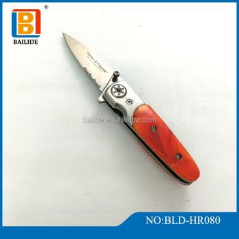 High Quality Tactical Folding Sharp Blade Pocket Knife Self Defense Easy Carry