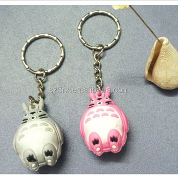 Factory Sale high quality design keychains/custom soft pvc keychain/make custom Janpan anime cat key chains for bag decor
