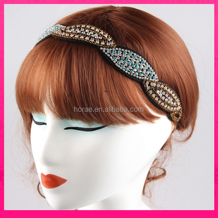 Wholesale Fashion Hair <strong>Headband</strong> Elastic crystal <strong>Headband</strong> for Girl