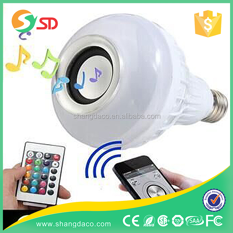 RGB E27 Wireless LED Bluetooth Audio Speaker/ Music Playing Lighting Bulb Louder Speakers