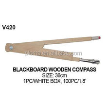 BLACKBOARD WOODEN COMPASS FOR TEACHING AIDS