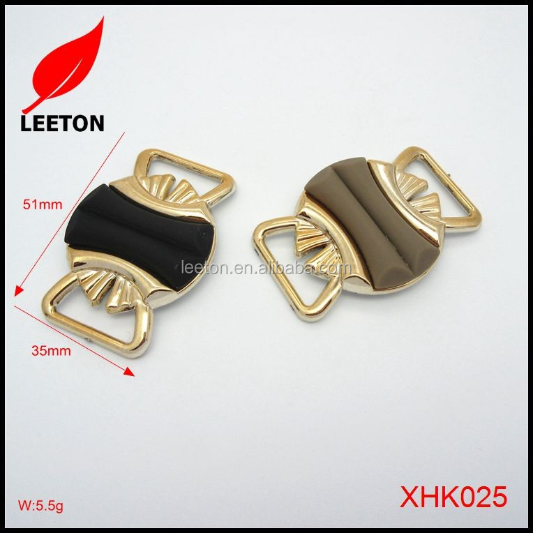 Shoes accessories plastic gold rectangle shoe buckles