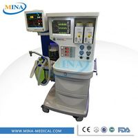MINA--AM006 Good quality advanced anesthesia machine with monitoring and alarm devices