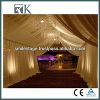 2013 New stage drapery with purple organza wave decor for sweety romance wedding party birthday chrismas