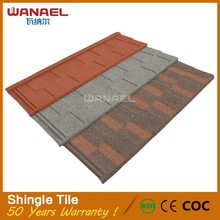 Wanael Shingle Anti-leakage Fast Delivery Cool Steel Flat Roofs