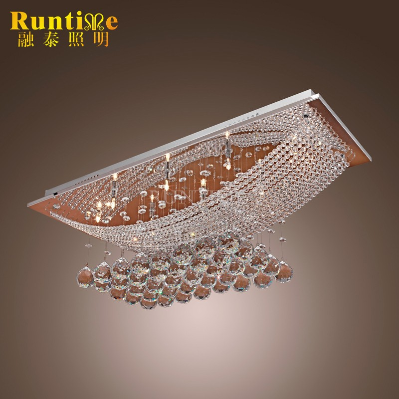 RT3018-8 Contemporary Luxury Design Crystal Ceiling Lamps with 8 Lights