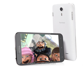 original 5.5inch Viewsonic 6HD quad core mtk6582 dual sim card back cam 8mp 1280*720pixels 3G wcdma cell phone