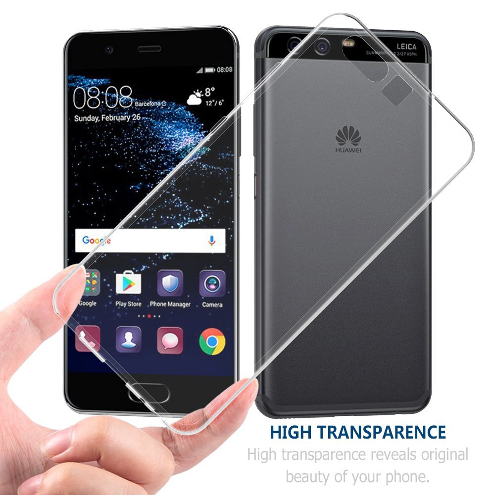 For HUAWEI P10 Case,Crystal Soft Premium TPU Case Clear Transparent Slim Anti Slip Case Back Cover For HUAWEI P10 5.1""