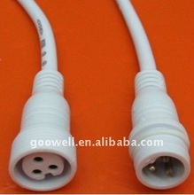 3 pin male to female waterproof cable joint