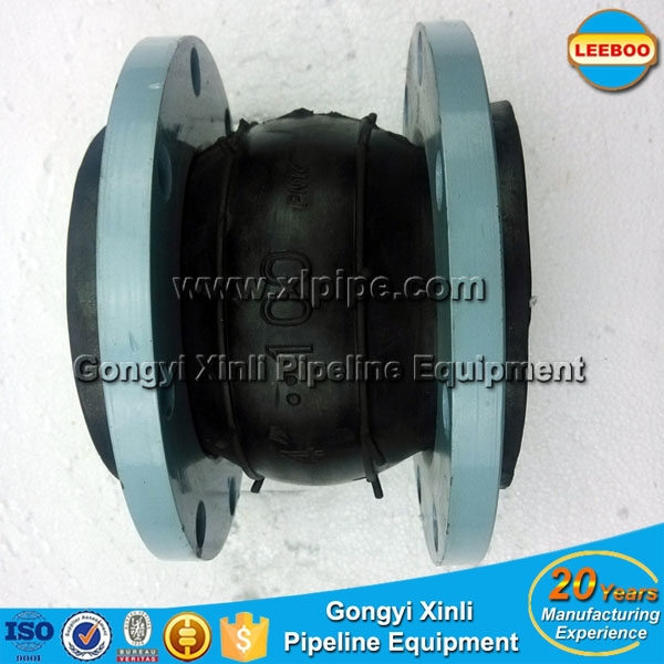 Custom Made Flange Single Sphere EPDM Rubber Expansion Joints For Compress Air