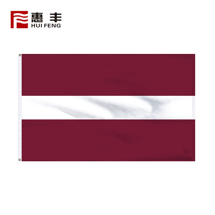 custom printed made Latvia flag , custom Latvia flags 3x5