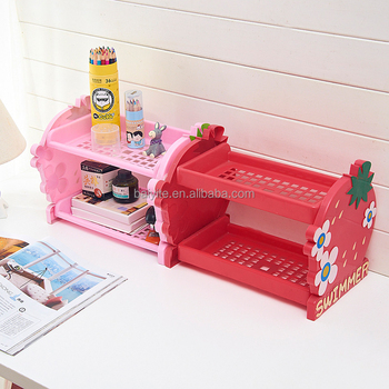 2-layers spice racks plastic bedroom shelf