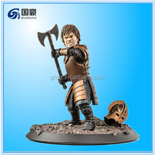 Customized resin game of thrones 3 characters toy action figure