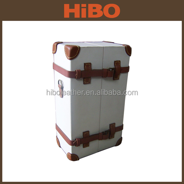 wholesale custom pu leather wine carrier