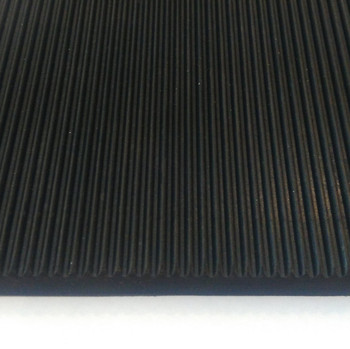 Customized 3mm thin fine ribbed rubber sheet for industry