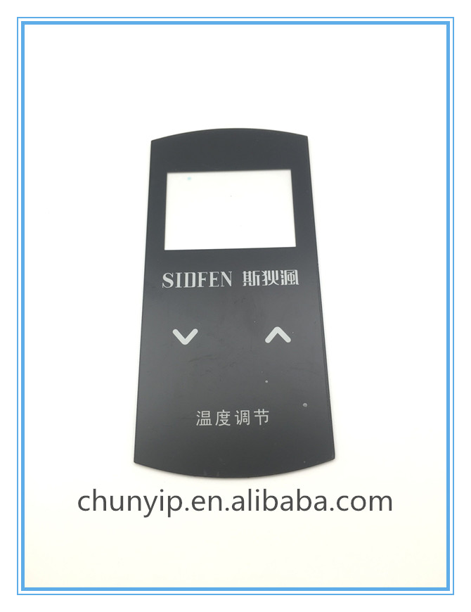 Membrane touch switch panel with transparent lcd display window
