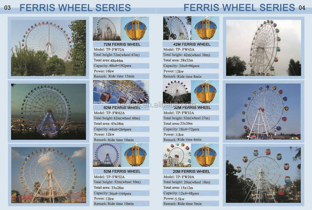 Professional giant ferris wheel manufacturers--20cabins