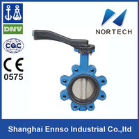 2014 Double Flange exhaust worm gear operated butterfly valve