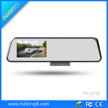 Car Aftermarket 4.3' dual record rear view mirror monitor car gps dvr
