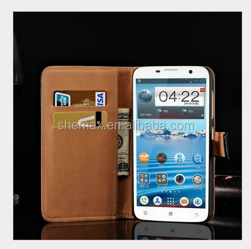 Flip and Fold Leather Wallet Case for Lenovo A850, for Lenovo A850 Case