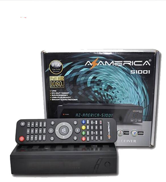 Twin Tuner set top box azamerica s1001 decoder iks sks full hd 1080p receptor